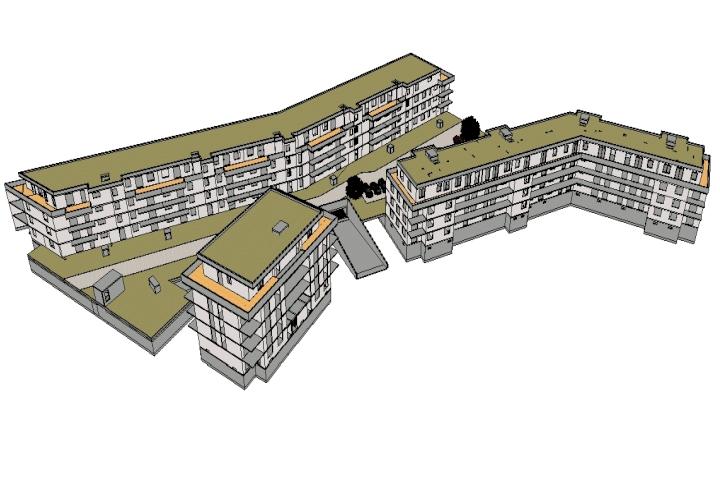 Neubau Wohnhäuser Schönefelder Weg, Bernau, 3D-ifc Modell