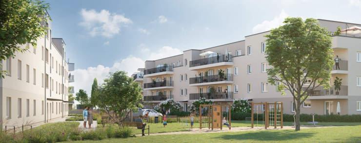 Neubau Wohnhäuser Schönefelder Weg, Bernau, 3D-Visualisierung