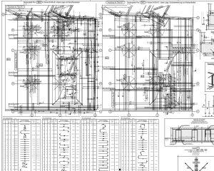 Erstellung von Schal- und Bewehrungsplänen -Beispiel Ausschnitt Bewehrungsplan, Grundriss Bodenplatte
